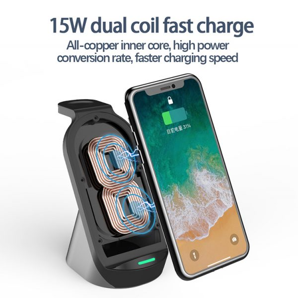 3 in 1 wireless charging dock
