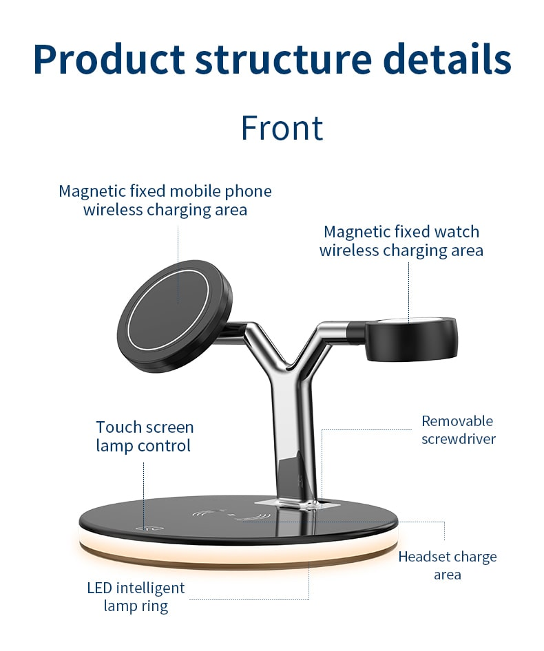 3 in 1 magnetic wireless charger stand