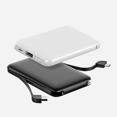 Built in charging cable powerbank